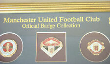 MANCHESTER UNITED OFFICIAL BADGE COLLECTION set 5 historic moments 39cm x 16cm