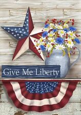 Patriotic Give Me Liberty Stars & Stripes Americana  Country Folk Large  Flag