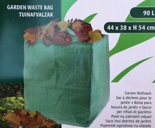 Laubsack für Gartenabfälle Laub Müll Abfall Sack Gartensack 90l grün Henkel