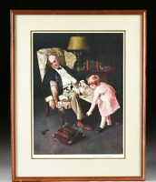 """VERY RARE NORMAN ROCKWELL LITHOGRAPH HAND SIGNED LIMITED EDITION """"PALS"""" 24/750"""