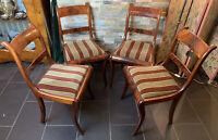 Ein Set Biedermeier Stühle Aus Massiven Nussbaum,um 1850-1870  4 Stühle