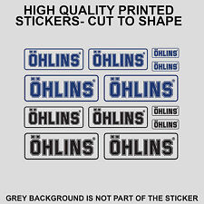 12x OHLINS DECALS STICKERS MOTO MOTORCYCLE SPONSOR STICKER SHEET DECAL