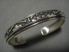 Sterling Silver Bracelet Old Fabulous Vintage Navajo Thoms Singer