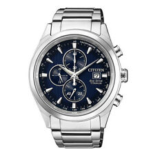 Citizen Silver Mens Analog Business Eco-Drive Chronograph CA0650-82M