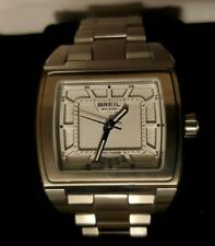 Breil Milano BW0574 Men's Square Analog Date WR10ATM Boxed Stainless Steel Watch