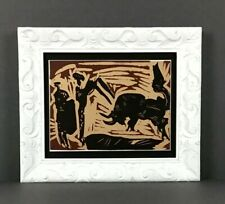 Pablo PICASSO 1962 Linocut (after) Framed 13x11 Sale Price