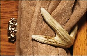 River's Edge Deer Antler Curtain Tieback Hooks 1 Pack Home Window Decor New
