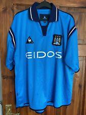 Manchester City 2001/02 Vintage Home Shirt Le Coq Sportif XL Extra Large Retro