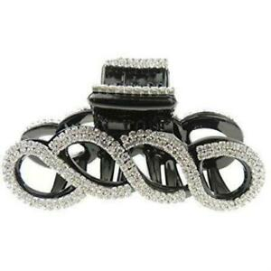 Extra Sparkly Diamante Crystal Evening Ladies 8cm Hair Claw Clamp Waves