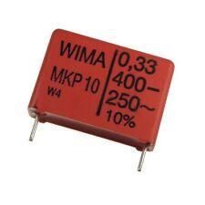 2 WIMA impulso fissa POLIPROPILENE CONDENSATORE mkp10 400v 0,33uf 22,5mm 089720