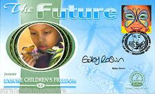 2001 The Future - Benham Small Silk - Signed by GABY ROSLIN