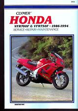 1986 to 94 HONDA VFR700F, VRF750F INTERCEPTOR MOTORCYCLE SERVICE MANUAL CLYMER