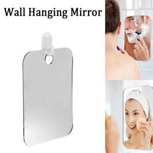 Unisex Anti-fog Shaving Mirror Bathroom Wall Hanging Acrylic Makeup Mirror