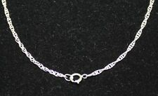 "Sterling Silver Rope Chain 16"" long x 1.8 mm Sterling Silver Spring Ring Clasp"