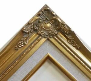 """3"""" Gold Leaf Wood Antique Picture Frame photo art wedding gallery 18x24 637GL"""