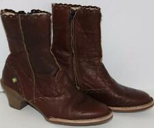 El Naturalista Women's Shoes Ankle Boots Brown Leather Size 7/37 FREE SHIPPING!
