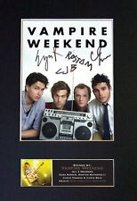#369 VAMPIRE WEEKEND Reproduction Signature/Autograph Mounted Signed Photograph