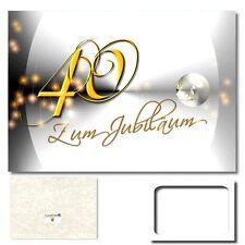 DigitalOase 40. Jubiläum Grußkarte XXL Glückwunschkarte Jubiläumskarten