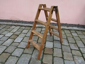 alte Treppenleiter Holzleiter Stufenleiter Klappleiter Holz Stehleiter (32)