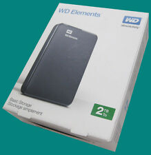 New WD Elements 2TB Portable External HD / Hard Drive USB 3.0