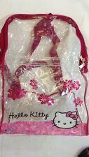 Hello Kitty - Sanrio - Zainetto Estivo trasparente 40x30 - Nuovo