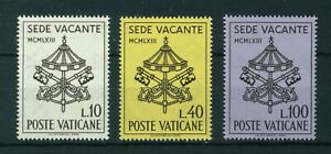 Vatican 1963  Sede Vacante full set of stamps Mint. Sg 406-408