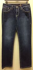 JAG Petite Marley Slim Blue Depths Mid Rise Slim Leg Jeans Denim Contrast Stitch