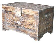 Truhe 60 cm Holz Deko Schatztruhe Holzkiste Holztruhe Aufbewahrung Kiste Box