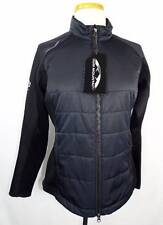 New Women's Sun Mountain Black Long Sleeve Quilted Body Hybrid Jacket S NWT