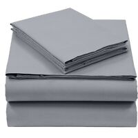 Pieridae Easy Care 4 Piece Cotton Blend deep Fitted Bed Sheet Set Queen King