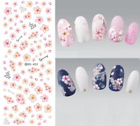 Water Decals Spring Fresh Flower Lavender Theme Nail Art Transfer Stickers Tips