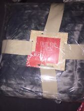 """Martha Stewart Quilted Faux Fur Throw Gray 60"""" x 50"""" NWT MSRP$100 free shipping"""