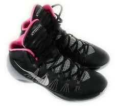 Nike Hyperdunk 2013 Sz 12 Us Black Silver Pink Basketball Shoes 599537-005