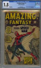 AMAZING FANTASY #15 CGC 1.5 1ST APPEARANCE SPIDER-MAN