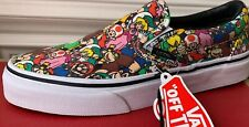 New Vans Slip-on Slip On Nintendo Multi Character Print Mario Men's 9