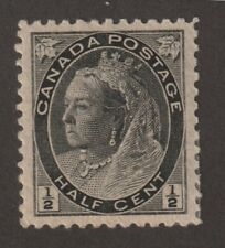 """Canada 1898 #74 Queen Victoria """"Numeral"""" Issue - VF MLH"""