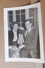 Photograph Social History Young Couple at Cafe Milano vintage fashions 7 x5 inch