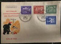 1952 Berlin DDR East Germany First Day Cover FDC Reconstruction Program