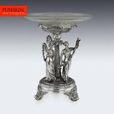 ANTIQUE 19thC GEORGIAN SOLID SILVER FIGURAL CENTERPIECE, BENJAMIN SMITH c.1822