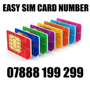 GOLD EASY VIP MEMORABLE MOBILE PHONE NUMBER DIAMOND PLATINUM SIMCARD 199 299