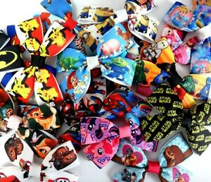 Movie Film Character Hair bow Clip or Bobble- party bags xmas princess book day