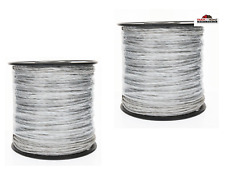 (2) 656' Electric Fence Wire Polywire Spool ~ New