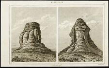 Gravure de 1852 : Ziggurat de Dur-Kurigalzu en Irak - Babylone - Mésopotamie