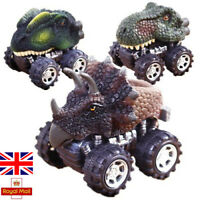 4X Dinosaurs Figures Pull Back Cars Jurassic Toys Kids Children Christmas Gifts