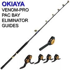 OKIAYA STANDUP TROLLING RODS 50-80LB VENOM-PRO CARBON BLANK/PAC BAY GUIDES