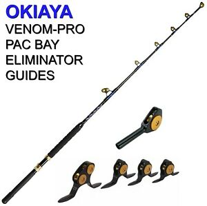 OKIAYA STANDUP TROLLING RODS 50-80LB VENOM-PRO CARBON BLANK/PAC BAY GUIDES