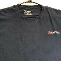 Magellan Outdoors Men's Short Sleeve Christmas T Shirt XXL Blue Mountains Tree