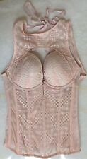 VICTORIA'S SECRET VERY SEXY LUXE CUTOUT LACE CORSET SIZE 34B ONE PIECE