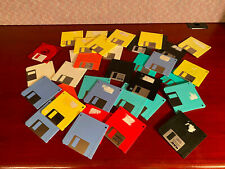"Used Lot of 3.5"" 1.44MB Floppy Disk Mixed Brands & Colors - 50 Disks Total"