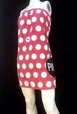 Victorias Secret PINK Wrap Around Bath/beach  Towel Polka Dots With Pocket